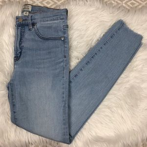 "J. Crew 9"" Inch High-Rise Toothpick Skinny Jeans"